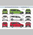 set passenger mini vans lwb l2 2018 vector image vector image