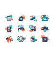 set smart home icons using remote control system vector image vector image