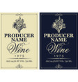 set wine labels with hand drawn bunch grapes vector image vector image