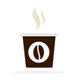 small black coffee plastic cup with hot smoke vector image