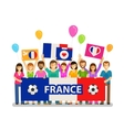 Soccer championship sport icon Fans of France vector image