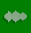 sound waves icon paper whitish icon with vector image vector image