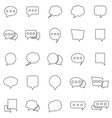Speech Bubble line icons on white background vector image