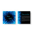 square invitation with neon light vector image vector image