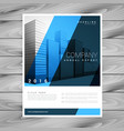 stylish blue brochure flyer design template for vector image vector image