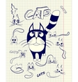 Stylized cats in different emotions vector image vector image