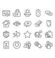 technology icons set included icon as approved vector image vector image