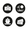 Travelling icons vector image vector image