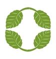 tree plant silhouette icon vector image