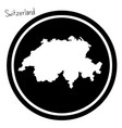 white map of switzerland on black vector image vector image