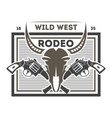 wild west rodeo isolated label vector image