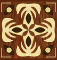 wooden art decoration template wooden inlay light vector image vector image