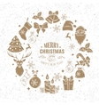 Christmas design frame decoration vector image