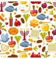 Colorful seamless pattern with symbols of Rosh vector image