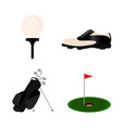 abstract golf object vector image vector image