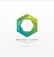 abstract hexagonal logo concept design vector image