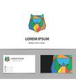 Abstract lion logo design with business card