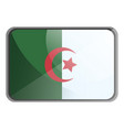 algeria flag on whte background vector image vector image