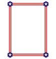 american flag stars symbols border vector image vector image