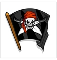 Black pirate flag with skull and Cross Swords vector image