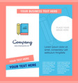 book and pencil company brochure template vector image vector image