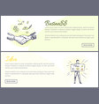 business and idea set of web vector image vector image
