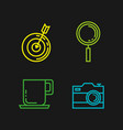 business and management set icons vector image vector image