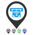 cash machine pointer flat icon vector image vector image