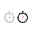 clock icon set timer watch vector image