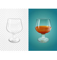 cognac glass realistic vector image vector image