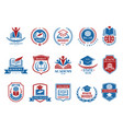 college emblem school or university badges and vector image
