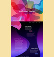 colorful abstract website template background vector image