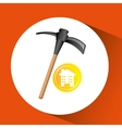construction pick axe icon graphic vector image