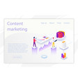 design business website about content vector image vector image