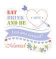 eat drink and be married vector image vector image