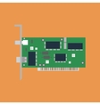 Ethernet card vector image