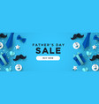 fathers day sale web banner for special discount vector image vector image
