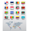 Flags of different countries vector image vector image