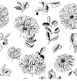floral minimalistic seamless pattern vector image vector image