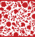 floral seamless pattern flower silhouette vector image