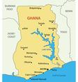 Ghana - map vector image vector image