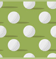 golf balls seamless pattern on a green background vector image