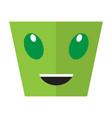happy halloween cartoon alien avatar vector image vector image