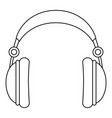 headphones icon outline style vector image