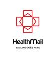 health mail logo vector image vector image