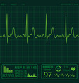 heart monitor vector image vector image