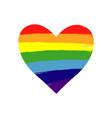 heart rainbow lgbt vector image vector image