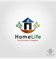 home life - residence logo vector image vector image