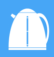 Icon electric kettle on blue background vector image