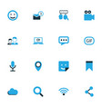 internet colorful icons set collection of vector image vector image